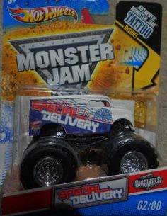 HOT WHEELS MONSTER JAM SPECIAL DELIVERY FREE SHIPPING!!!