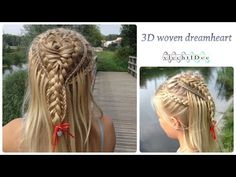 Heart hairstyle: how to make a 3D braided and woven dreamheart. A princess or bridal hairstyle. Hart kapsel: hoe maak je een 3D gevlochten en geweven droomha...