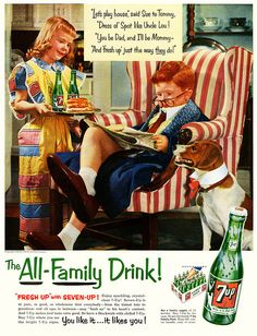 Never to young to start catering to a man's every whim. (BTW what's with advertisers using the names Sue and Tom so much? Were they the most popular names back then or something?)