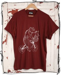 Bear Phone Home tshirt printed in Sheffield by Don't Feed The Bears.
