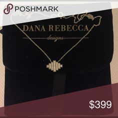 "Dana Rebecca Design Diamond and Gold Necklace Brand new and never worn.  Purchased directly from the showroom in NYC.  White gold and diamonds on a 16"" chain. dana rebecca designs  Jewelry Necklaces"