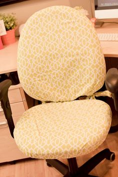 Need to do this to my chair fice Chair CoversCool