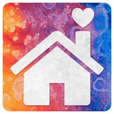 Abstract Acrylic Icon - Home is Where the Heart is by Free Grunge Textures - www.freestock.ca, via Flickr