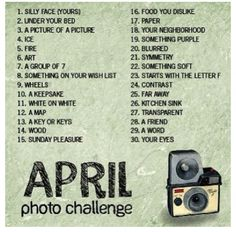 April Photo Challenges