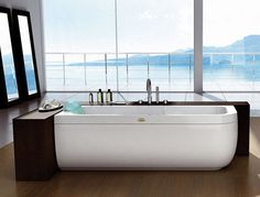 Designer Bathtub from Jacuzzi Europe by Carlo Urbinati - new clean modern bathtubs