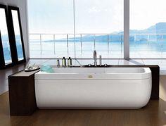 Designer Bathtub from Jacuzzi Europe by Carlo Urbinati - new clean modern bathtubs