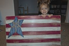 wooden blinds into a flag