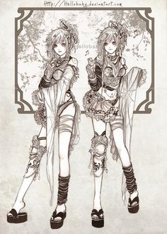 Twin Sisters by Hellobaby.deviantart.com on @deviantART