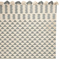 love this for somewhere in your home....living area or one of downstairs bedrooms as possibilities...goes with overall design vibe. Zig Cotton Dhurrie  – Fog #serenaandlily