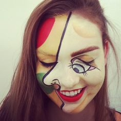 This would be epic. Picasso costume for Halloween! Go as a piece of art