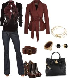 """""""Cranberry & Black"""" by melly1376 on Polyvore"""