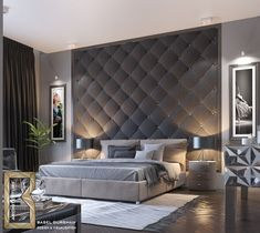 Paint accent wallpaper bedroom wall ideas for feature interior colors r . Luxury Bedroom Design, Master Bedroom Design, Home Decor Bedroom, Living Room Decor, Bedroom Ideas, Bedroom Designs, Fancy Bedroom, Bedroom Furniture, Bedroom Modern