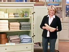 Linen Closet Tips - Martha Stewart Home & Garden