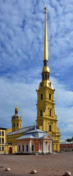 Peter and Paul Cathedral and boathouse, St. Petersburg, Russia