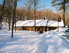 Pavillon de l'érablière / Sugar Shack - www.sacacomie.com Nature, Canada, Snow, Outdoor, Pavilion, Outdoors, Naturaleza, Outdoor Games, Nature Illustration
