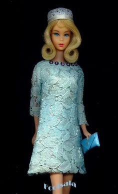 This stunning Japanese Edition fashion is modeled by a TNT Barbie from the collection of Gene Foote.