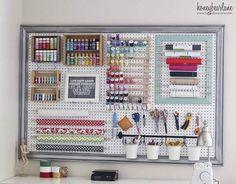Craftroom Organizational Pegboard