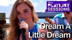 """Sabrina Carpenter performs """"Dream A Little Dream"""", recorded on Disney Cruise Line's private island Castaway Cay. Sabrina's debut album, """"Eyes Wide Open"""" is a. Sabrina Carpenter Songs, Cory And Shawn, Disney Playlist, Classic Songs, Jennette Mccurdy, Disney Music, Girl Meets World, Disney Cruise Line, Disney Dream"""