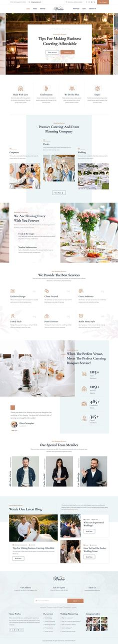 WedCo - Wedding HTML Template is a clean, elegant and modern design responsive premium HTML template for wedding event, wedding planner, wedding invitation, photographer and any wedding related professional websites with 5+ niche homepage layouts and inner pages that can be used for various purposes – from wedding announcements, wedding invitations, photography and gallery pages, RSVP pages and so much more to download now & live preview click on image 👆 Professional Website, Wedding Templates, Wedding Announcements, Corporate Design, Wedding Events, Rsvp, Wedding Planner, Layouts, Modern Design