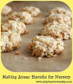 Play and Learn Everyday: Making Anzac Biscuits for Nursery