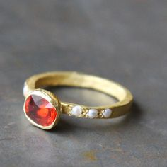 Ring spessartite esther assouline