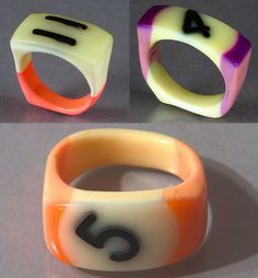 rings made from billiard balls