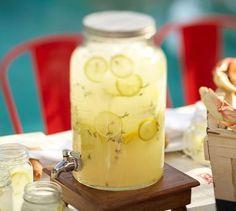 Mason jar beverage dispenser.