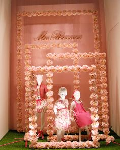 Pretty window display