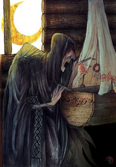 Kriksa (derived from rus. крик (krik) - scream) aka nochnitsa (derived from rus. ночь (noch') - night) — is an evil spirit in west-slavic mythology. It is believed that kriksa appears from a transformed soul of a witch, in case if she died childless.
