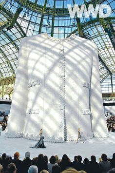 A statement of clout from Karl Lagerfeld and Chanel, Spring couture, 2008.