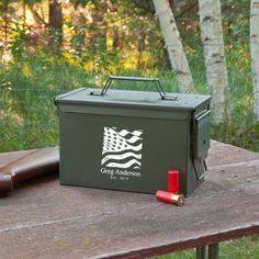 Personalized Metal Ammunition Box, Gifts for Guys, Christmas Gifts for Him, Hunting Gifts, Hunter, Outddorsman