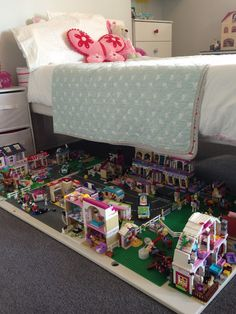 365 DAYS OF PINTEREST CREATIONS: Lego Storage, ready made village at a moments notice that slides away when not in use