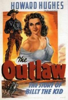 The Outlaw (1943) directed by: Howard Hawks / Howard Hughes starring: Jane Russell, Jack Buetel, Thomas Mitchell, Walter Huston