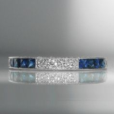 #Sapphire And #Diamond #Band In #18k #White #Gold €2,250 #Engagement #Jewelry #The #Antiques #Room #Galway #Ireland