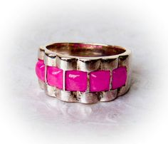 Sterling Pink Coral Ring   Size 6.75 by GemstoneCowboy on Etsy, $38.00