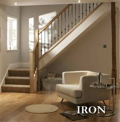 contemporary handrails for stairs | IRON Stair Baluster Range