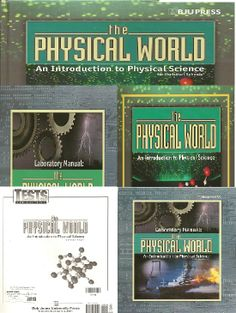 Only 1 left! Retail Price: $164.06 Our Price: $100.00      Bob Jones - Physical World Set: Includes; Student text (#125708), Lab manual (#128678) Tests (#180406) Teacher's edition (#125716) and Lab manual Teacher's edition (12868)