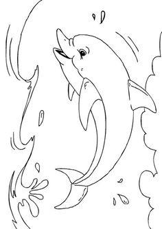 Kleurplaat dolfijn - Afb 27233.
