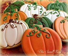 Fall Cookies Pumpkin Sugar Cookies Decorated, Halloween Cookies Decorated, Sugar Cookie Royal Icing, Halloween Sugar Cookies, Iced Sugar Cookies, Thanksgiving Cookies, Fall Cookies, Holiday Cookies, Summer Cookies