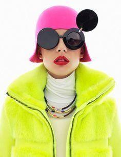 Futuristic Fashion Lejla Hodzic photographed by Zoltan Tombor for Grazia. Lauren Hutton, Raf Simmons, Cooler Look, Vogue, Foto Art, Cheap Sunglasses, Funny Sunglasses, Vintage Sunglasses, Sunglasses Outlet