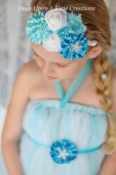 Ice Queen Snowflake Headband  Little Girls by OnceUponATimeTuTus, $11.99