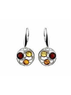 0e029710f1 Preziosi, eleganti e particolari orecchini filo della vita in argento  rodiato con pietre dure. Giallo Ambra ...