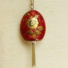 vintage scent bottle necklace