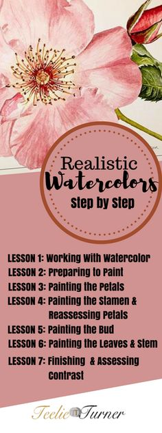 Online Class Realistic Watercolors Step by Step: www.teelieturner.com #painting