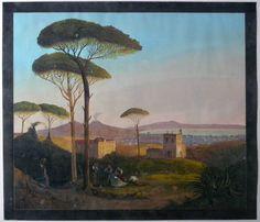 Napoli Gouache LA Pira 1838