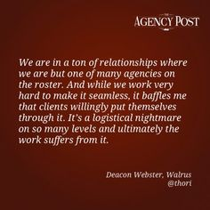 POV: Interview with Deacon Webster, Co-Founder of Walrus    http://www.agencypost.com/pov-interview-with-deacon-webster-co-founder-of-walrus/