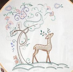 Woodland Embroidery-little man?