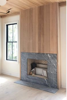 Inspiration and style for the home--home decorating ideas Basement Inspiration, Interior Design Inspiration, Home Interior Design, Fireplace Surrounds, Fireplace Design, Dream Home Design, House Design, House Layouts, Architecture Details
