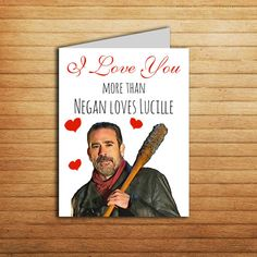 The walking dead greeting cards birthday the walking dead birthday the walking dead anniversary card printable negan and lucille card funny zombie love horror card for boyfriend husband dad sister friend m4hsunfo