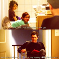 modern family :) I have never watched an episode, but that is a funny line...
